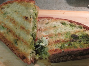 IMG_3130_Grilled Mozzerella & Provolone with Broccoli Rabe Pesto Sandwich