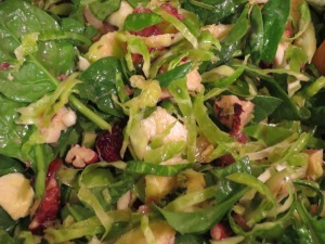 Maple Dijon Brussels Sprouts Salad