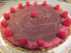 Chocolate Ganache Raspberry Tart with fresh raspberries