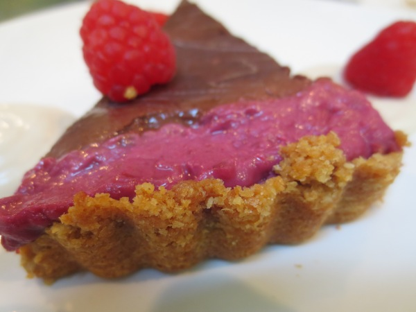 Chocolate Ganache Raspberry Tart back view
