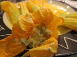 Squash Blossoms stuffed