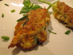 Cooked Stuffed Squash Blossoms