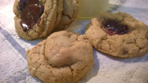 PB PBJ and PB Chocolate Cookies