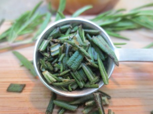 Chopped Rosemary for Creamy Cashew Dressing