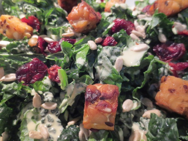 kale salad with creamy cashew dressing