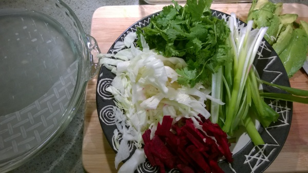 Veggies and Rice Paper for Summer Rolls