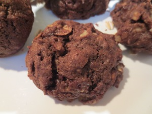 Double Chocolate Oatmeal Almond Cookies