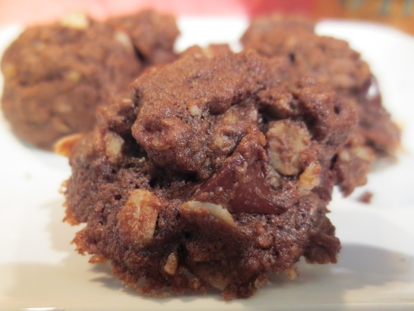 Double Chocolate Oatmeal Almond Cookies, yum!