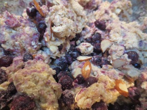blueberry almond oatmeal scone batter