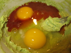 eggs, avocado and vanilla