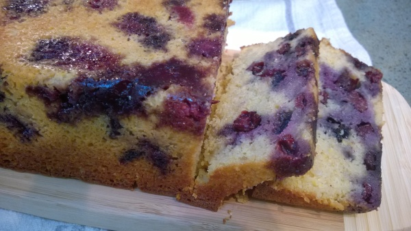 Blueberry Lemon Tea Cake  - gluten free