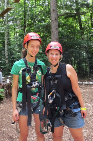 Survived the treetops obstacle course!