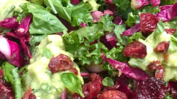 Kale Salad with Avocado & Herb Dressing