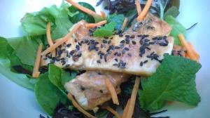 tofu with tahini peanut lime sauce