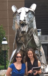 Skyler & I with one of the many Princeton tigers on campus