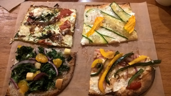 Our selections from Jules Thin Crust Pizza