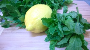 Parsley, mint and lemon